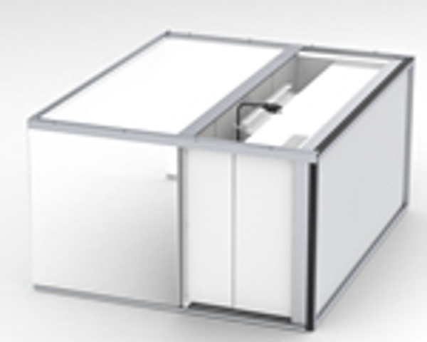 """Table Top Inflow Air Stream Clean Bench with 11"""" Acrylic Hood by Cleanroom World"""