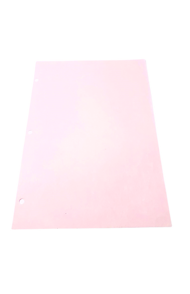 """Cleanroom Paper, 8.5"""" x 11"""", 3 Hole Punched, Pink by Cleanroom World"""