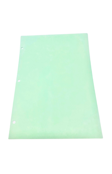 """Cleanroom Paper; 3 Hole Punched, 8.5""""x11"""", Green, 22.5# By Cleanroom World"""