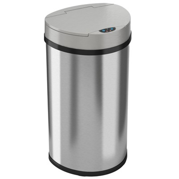 Sensor Operated Trash Receptacles, 13 Gallon by Cleanroom World