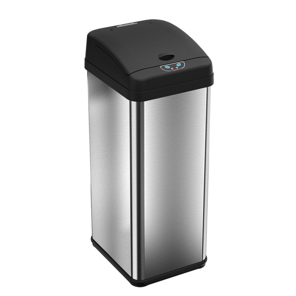 Sensor Operated Trash Receptacles, 13 Gallon, Rectangle by Cleanroom World