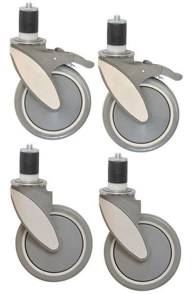 Polymer Casters For Stainless Steel Tables, WASHABLE CASTERS By Cleanroom World