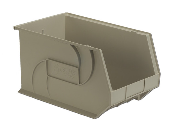 """Parts Bins, 18"""" x 11"""" x 10""""H, Stone by Cleanroom World"""