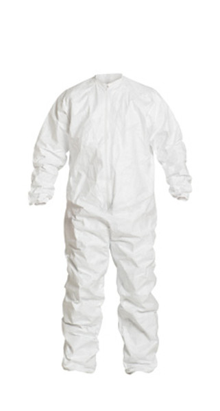 Sterile Tyvek Coveralls, Elastic Wrists/Ankles, Dolman Sleeves, Bound Seams, IsoClean, Individually Packaged S-5XL  by Cleanroom World