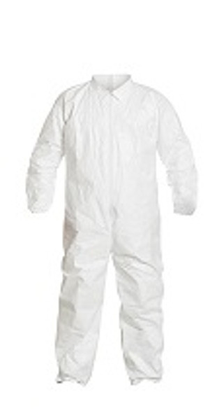Tyvek Coveralls, Elastic Wrists/Ankles, IsoClean, Cleanroom Processed, Individually Packaged, S-4XL  by Cleanroom World