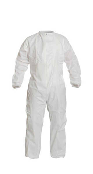 Sterile Tyvek Coveralls, Elastic Wrists/Ankles, Donning Snaps, IsoClean, Cleanroom Processed, by Cleanroom World