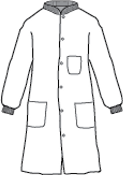 Kappler Provent 10,000 Lab Coats, Snap Front, Knit Collar, Knit Cuffs, 3 Pockets, Blue, 4XL by Cleanroom World