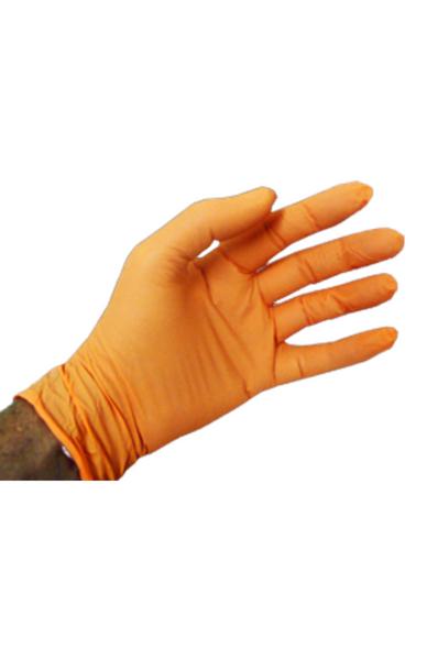 Lab Gloves, Nitrile Exam Gloves, Powder Free, Boxed, Orange, S-2XL by Cleanroom World