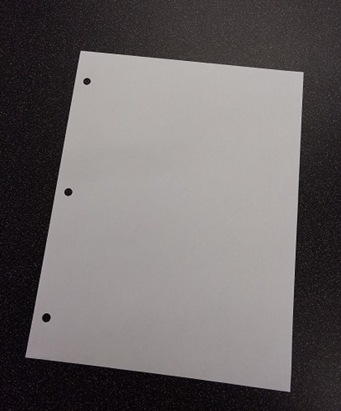 """Cleanroom Paper, 8.5"""" x 11"""", 3 Hole Punched, Blue by Cleanroom World"""