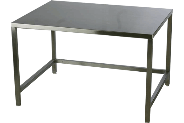 Electropolished Type 316 Stainless Steel Tables 84x24x36H by Cleanroom World