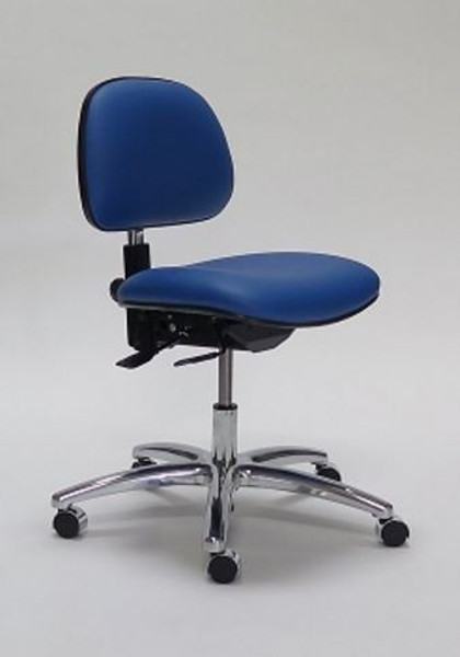 Lab Chairs, GK-3000 Series, 4 Heights, 2 Colors, 2 Back Adjustments, Contoured Seat, Dual Wheel Casters By Cleanroom World