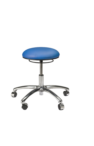 Lab Stools, 3 Height Ranges, 2 Colors, Dual Wheel Casters By Cleanroom World