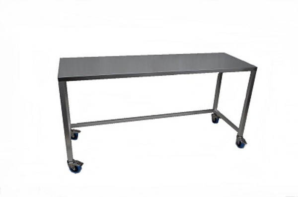 Cleanroom Tables, Wheels, Type 316 Stainless Steel By Cleanroom World