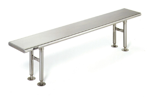 """Electropolished Gowning Benches, Type 316 Stainless Steel, 12""""W by Cleanroom World"""