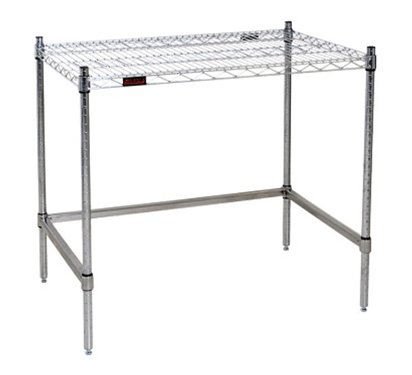 Economy Clean Room Tables, Eagle Tables, Stainless Steel Wire Top & Stainless Steel Base by Cleanroom World