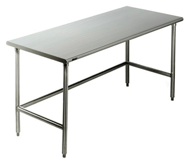 Cleanroom Tables, Type 304 Stainless Steel Solid Top, C-Frame by Cleanroom World