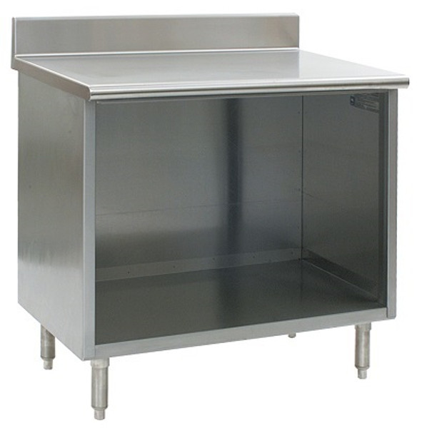 Stainless Steel Lab Cabinets, Backsplash, Open Base, Type 304 Stainless Steel by Cleanroom World