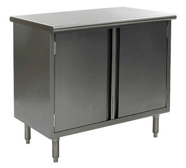 Stainless Steel Lab Cabinets, Flat Top, Hinged Doors, Type 304 Stainless Steel, Lower Storage By Cleanroom World