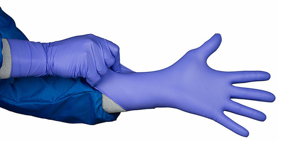 "Cleanroom Gloves, ESD, Heavy Duty, Nitrile, Powder-free, 12"" Blue, S-XL, Double Bagged By Cleanroom World"