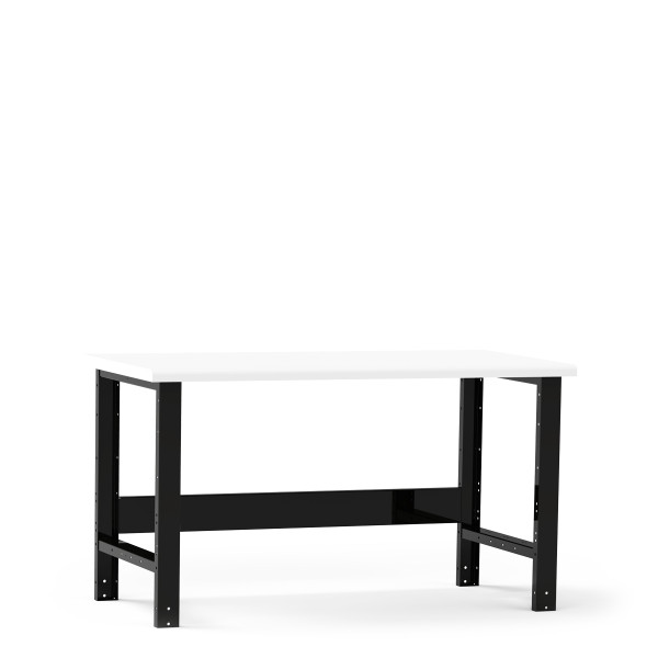 """Work Bench, 60""""W x 30""""D x 34""""H, Plastic Laminated Top, Open Leg with Stringer By Cleanroom World"""