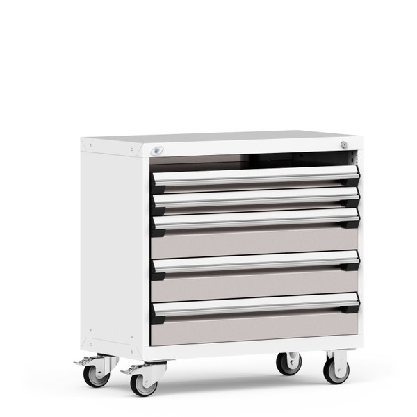 """Mobile Cabinet, 36""""W x 18""""D x 43 1/8""""H, 4 Drawers, 4"""" Swivel Casters By Cleanroom World"""