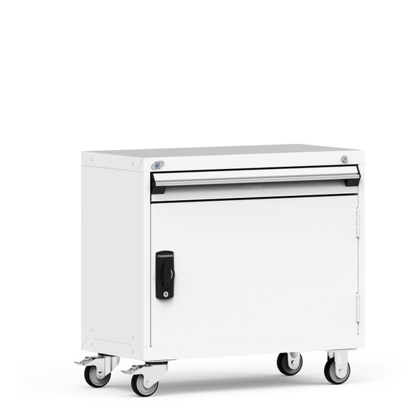 """R Mobile Cabinet, 36""""W x 18""""D x 33 1/8""""H, 1 Drawer, 4"""" Swivel Casters By Cleanroom World"""