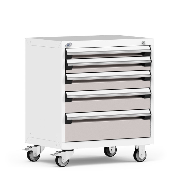 """Mobile Cabinet, 36""""W x 18""""D x 35 1/8""""H, 5 Drawers, 4""""Casters By Cleanroom World"""