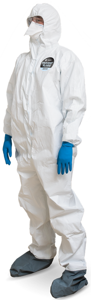 Disposable Lab Garments, Kappler Provent 10,000, BioHazard, Coveralls, Hood, Elastic Wrist, Small  KA-PPS428-S  by Cleanroom World