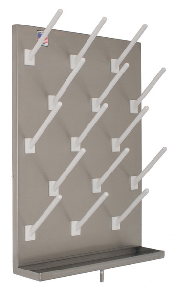 """Peg Board, Stainless Steel, 18"""" x 24"""", 15 Pegs By Cleanroom World"""