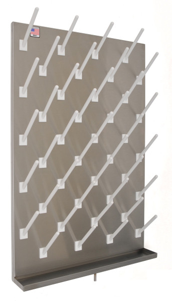 """Peg Board, Stainless Steel, 48"""" x 24"""", 40 Pegs By Cleanroom World"""