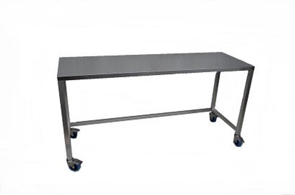 Electropolished Cleanroom Tables with Casters, Type 304 Stainless Steel By Cleanroom World