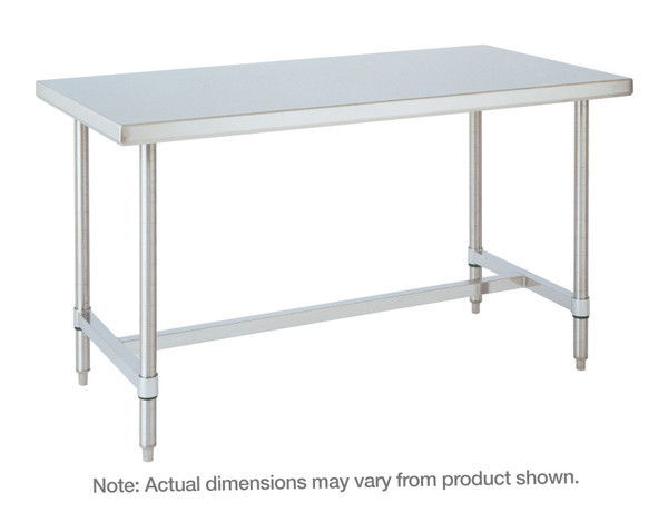 Stainless Steel Table, H-Frame By Cleanroom World