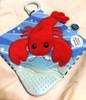 Lobbie Lobster Crinkle Teether – 6×6″