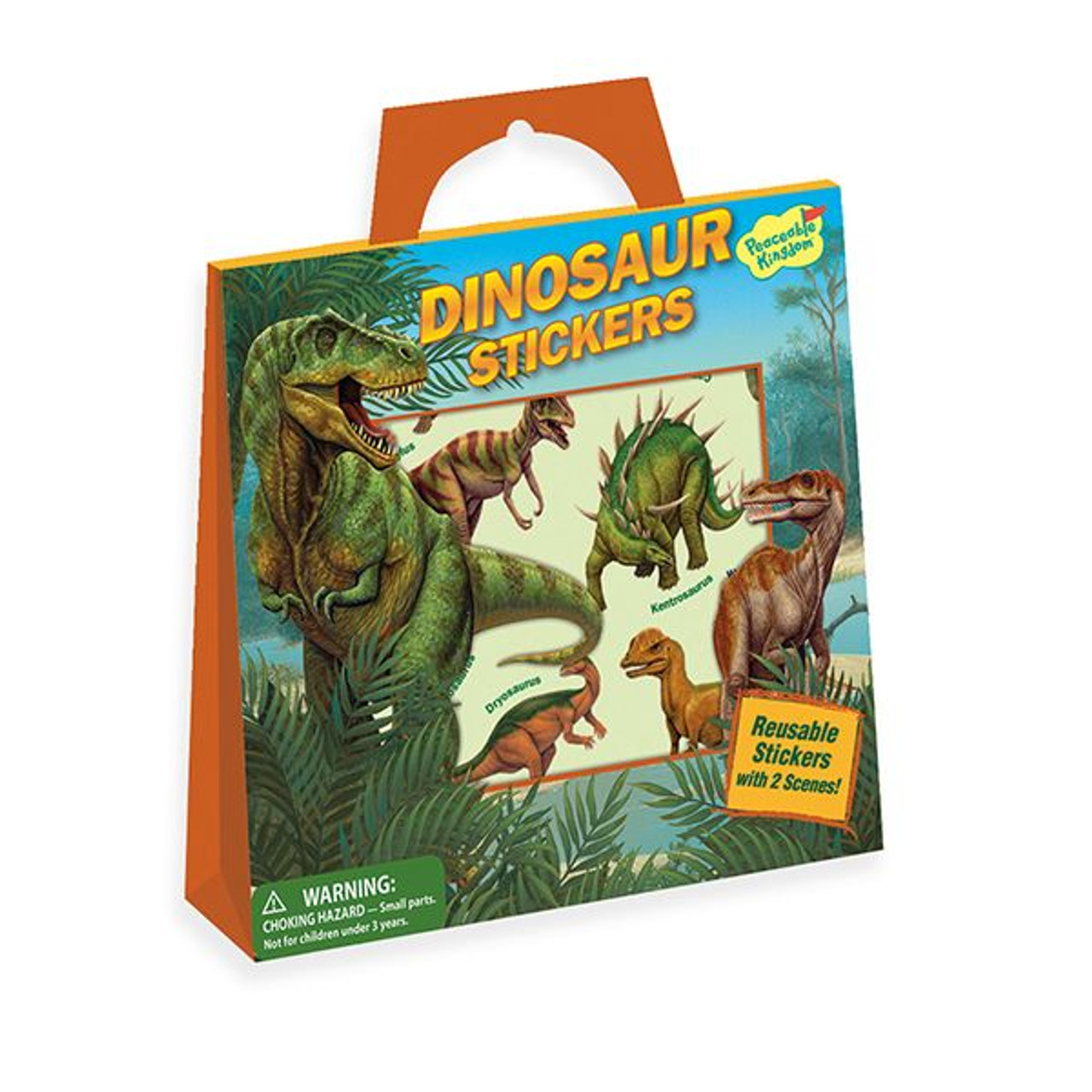 Dinosaur Reusable Cling Sticker Tote