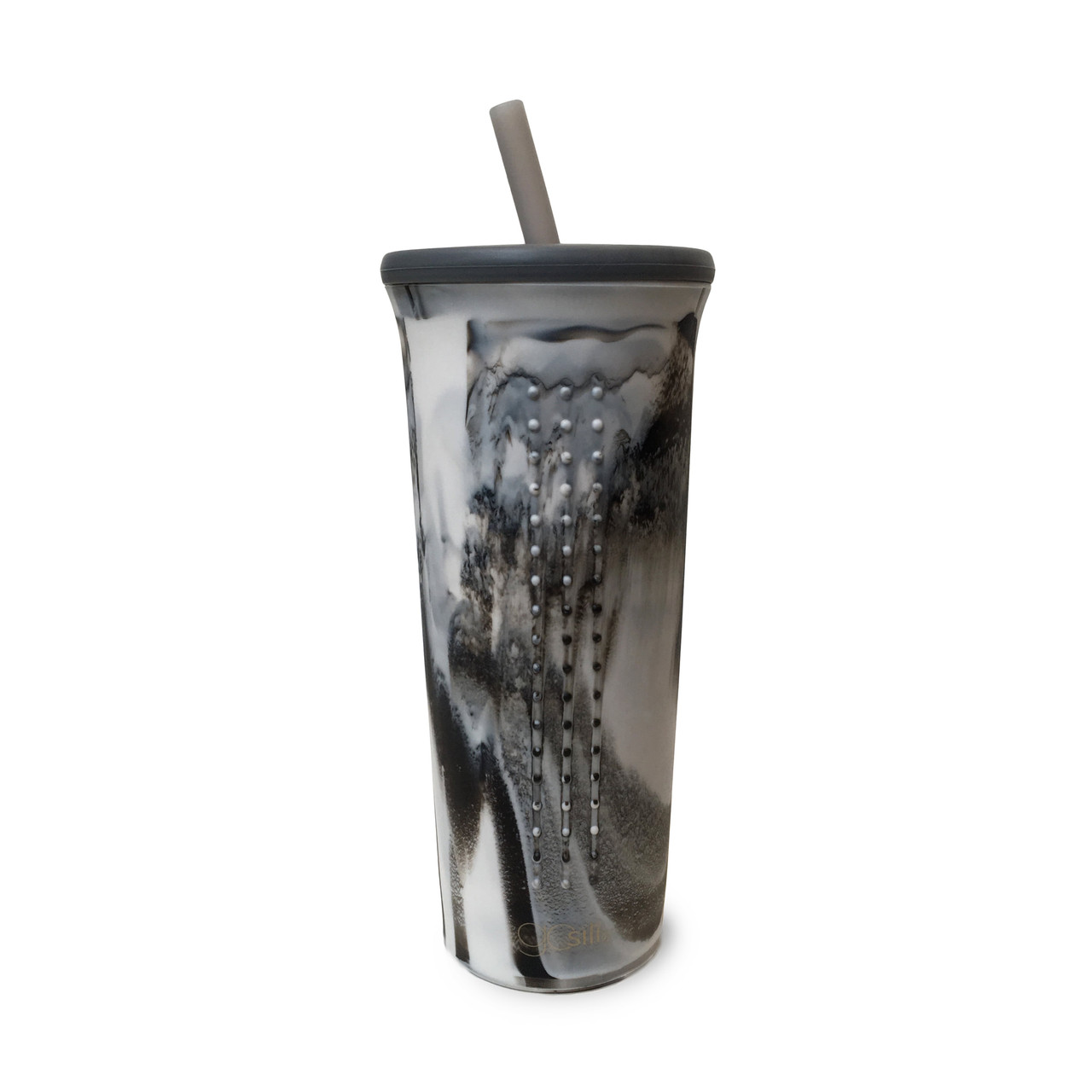 24 oz Silicone Cup with Lid and Straw CALCATTA