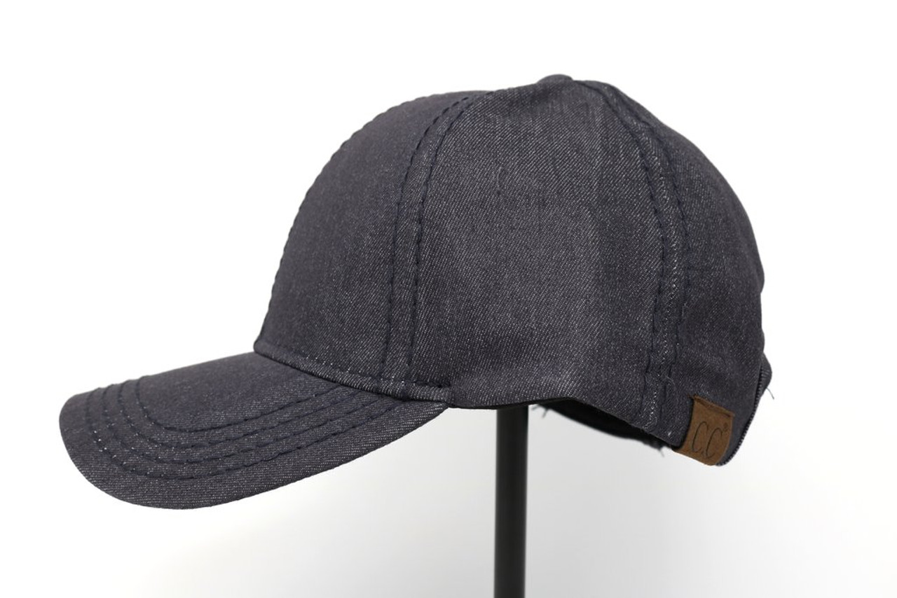 High Ponytail All Cotton CC Ball Cap