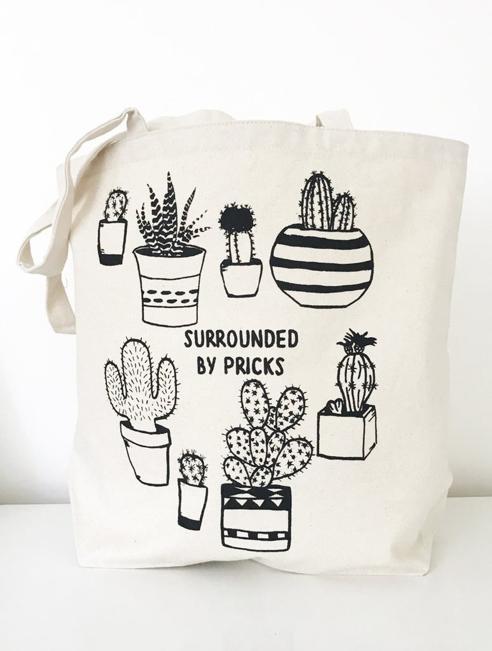 Surrounded by Pricks Farmers Market Tote by The Coin Laundry