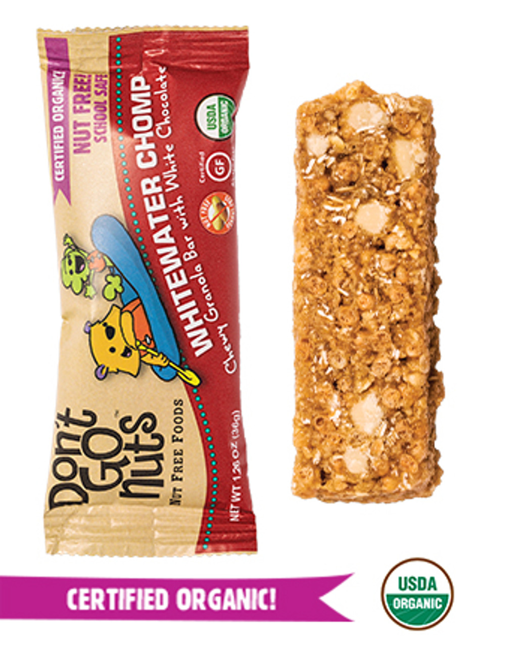 WHITEWATER CHOMP BAR 5 count box by Don't Go Nuts
