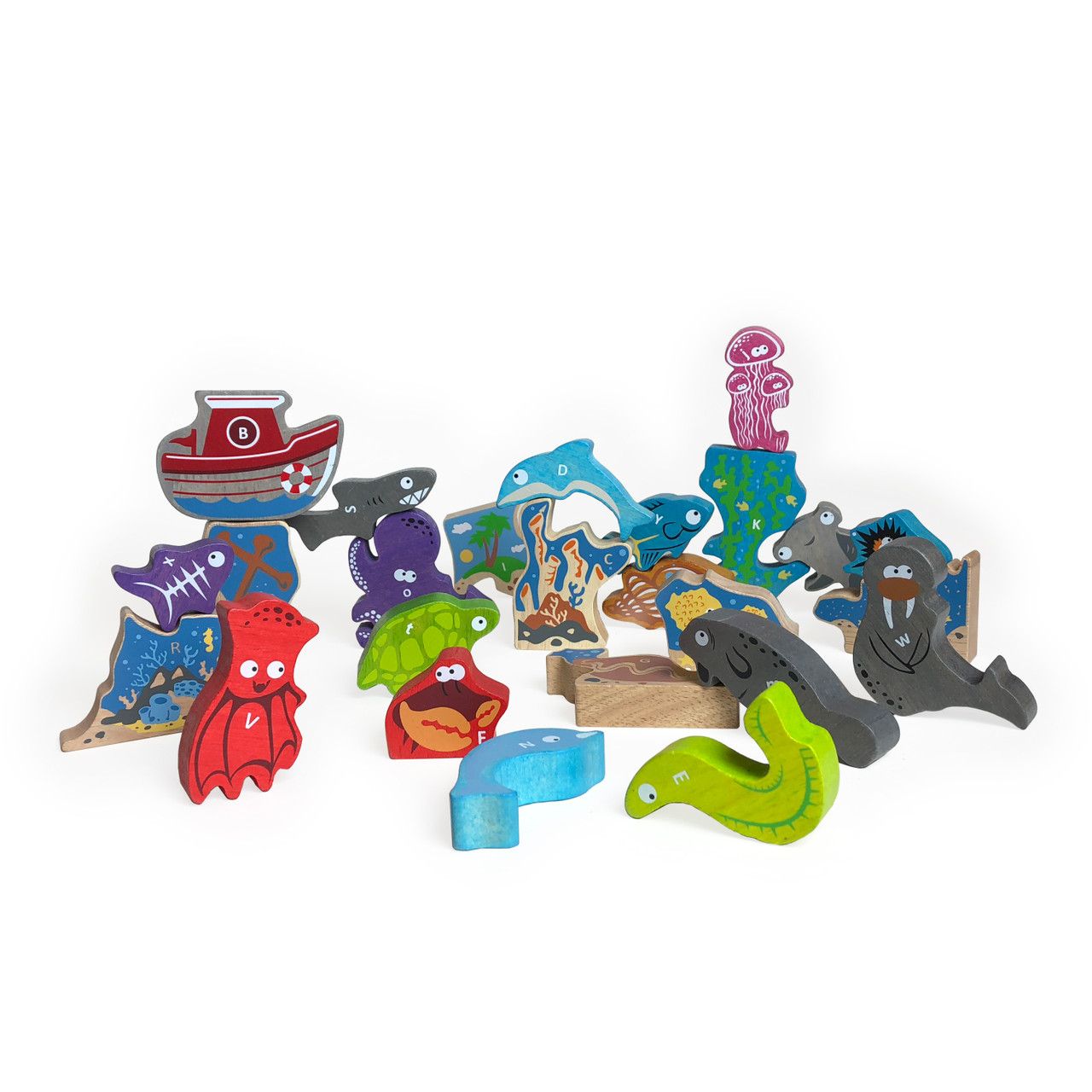 Begin Again Toys Ocean A to Z Puzzle