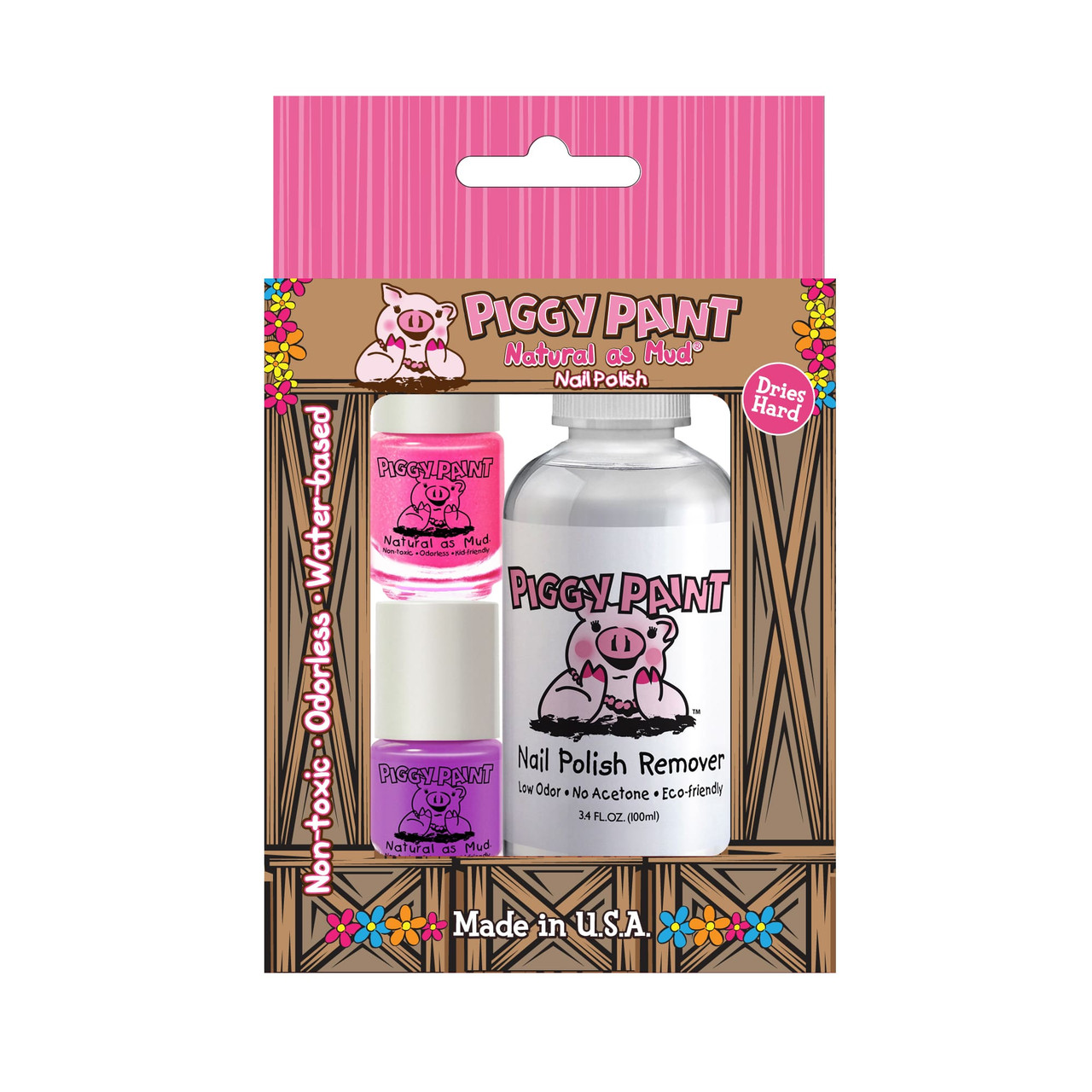 Piggy Paint Nail Polish Set with Remover