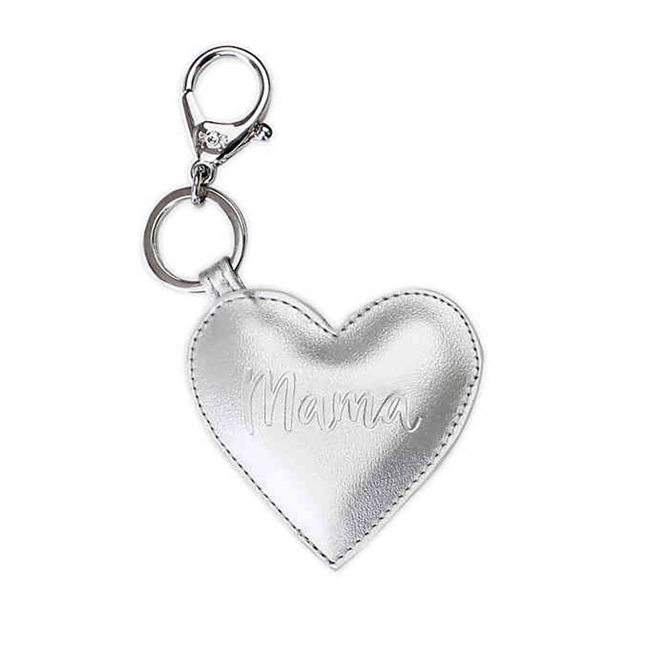 Silver Padded Mama Heart Charms by Itzy Ritzy