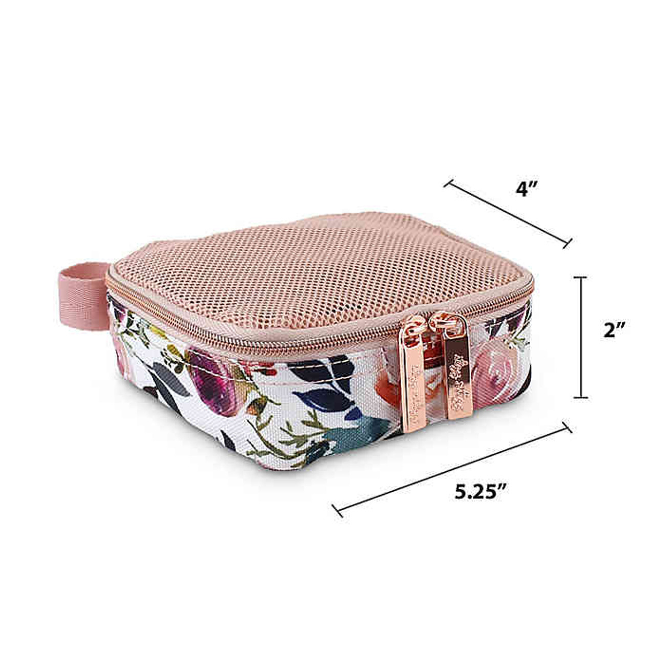 Blush Floral Packing Cubes by Itzy Ritzy