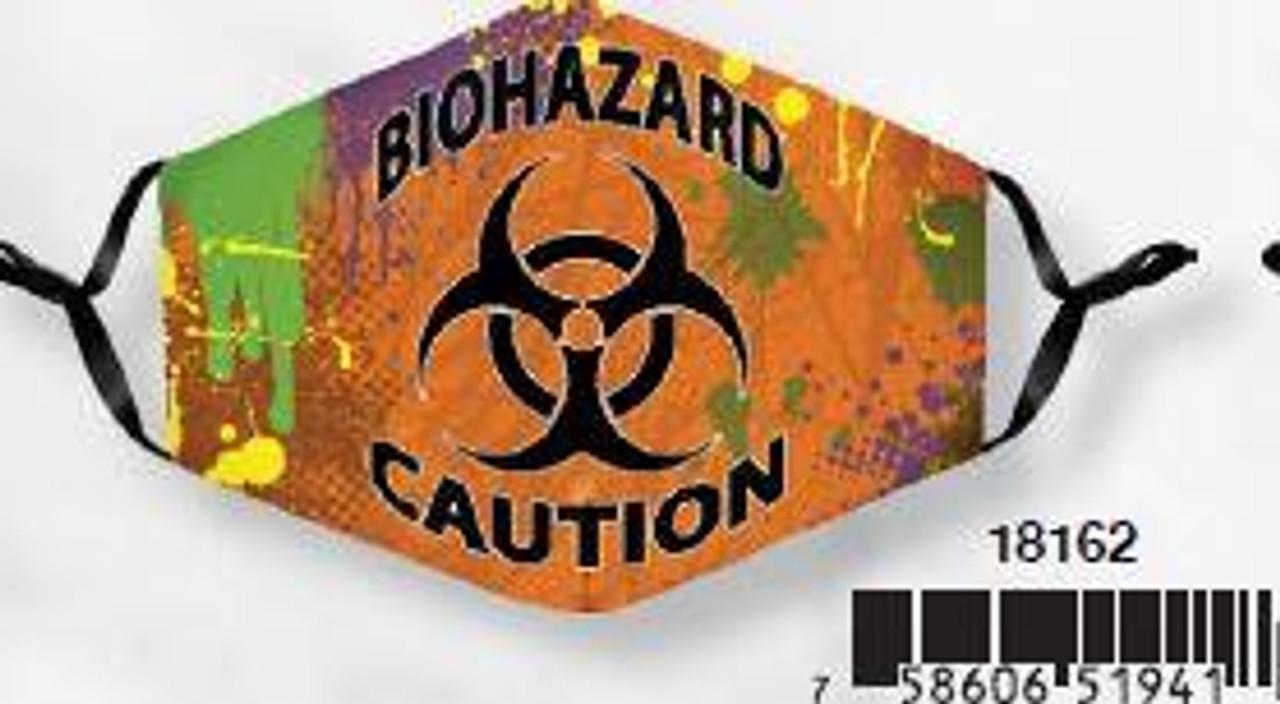 Face Masks with Adjustable Ears - Biohazard