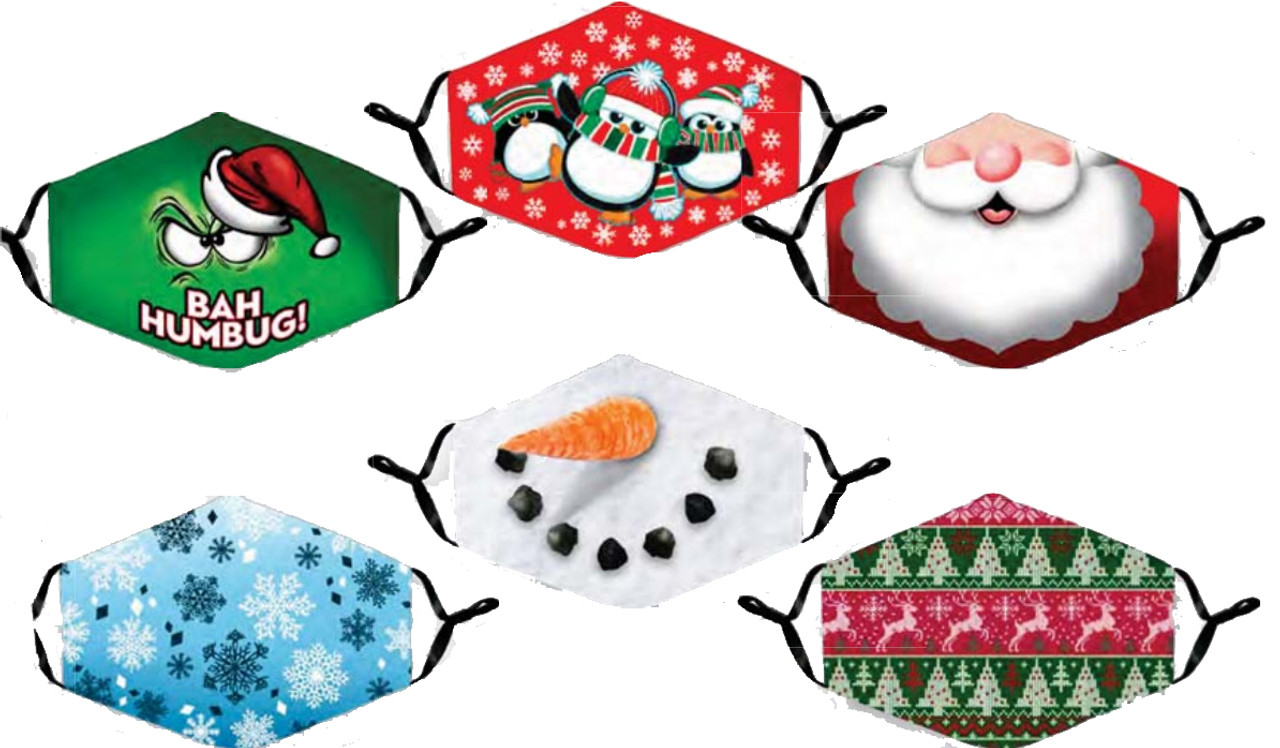 Christmas Face Masks with Adjustable Ears