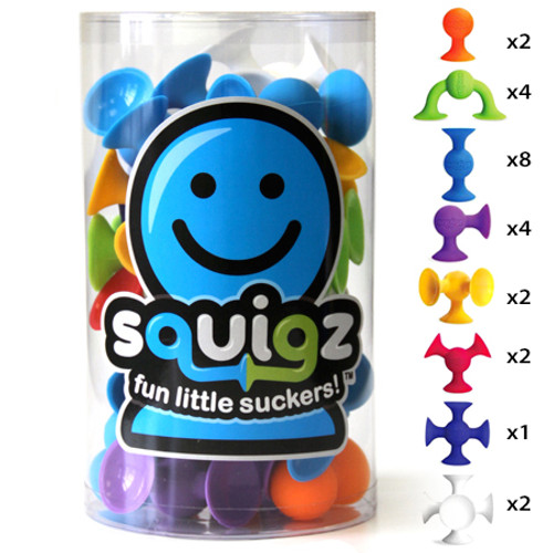 Squigz 24 pc set by Fat Brain