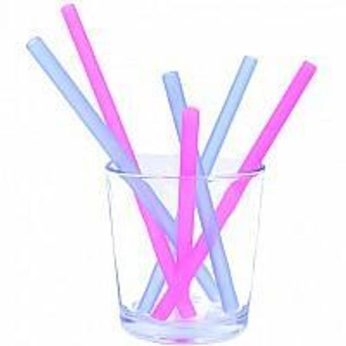 "Silikids Single Silicone Straw 8"""