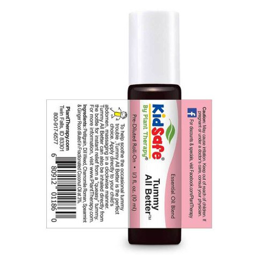 Kidsafe Tummy All Better Essential Oil 10 mL Roll On by Plant Therapy