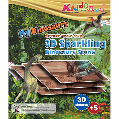 My Dinosaur - Create Your Own 3D Sparkling Scene Booklet