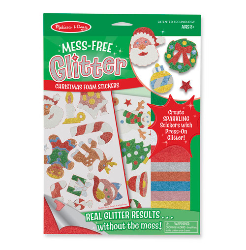 Melissa and Doug  Mess Free Glitter - Christmas Stickers