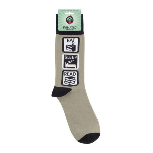 Eat Sleep Read by Funatic Socks